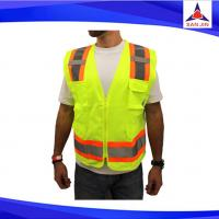 Reflective vest screen cloth Safety vest Traffic police zipper