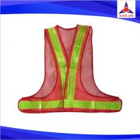 High Visibility Orange Safety Vest with Reflective Strips